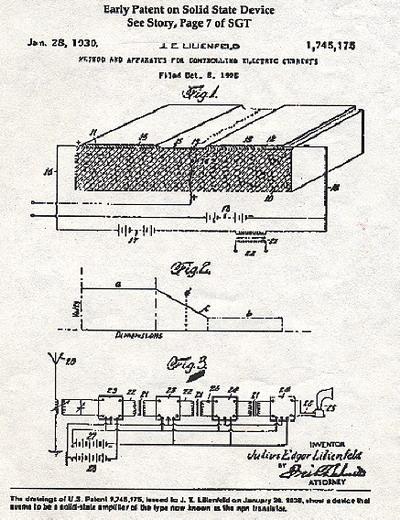 Lilienfeld Transistor Radio Circuit