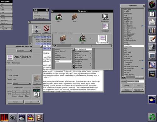 NeXTSTEP desktop