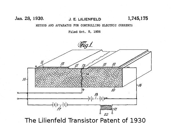 The Lilienfeld transistor patent 1930